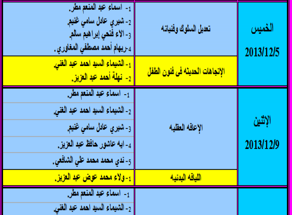 Exam schedule of 2013 summer semester for Professional Diploma